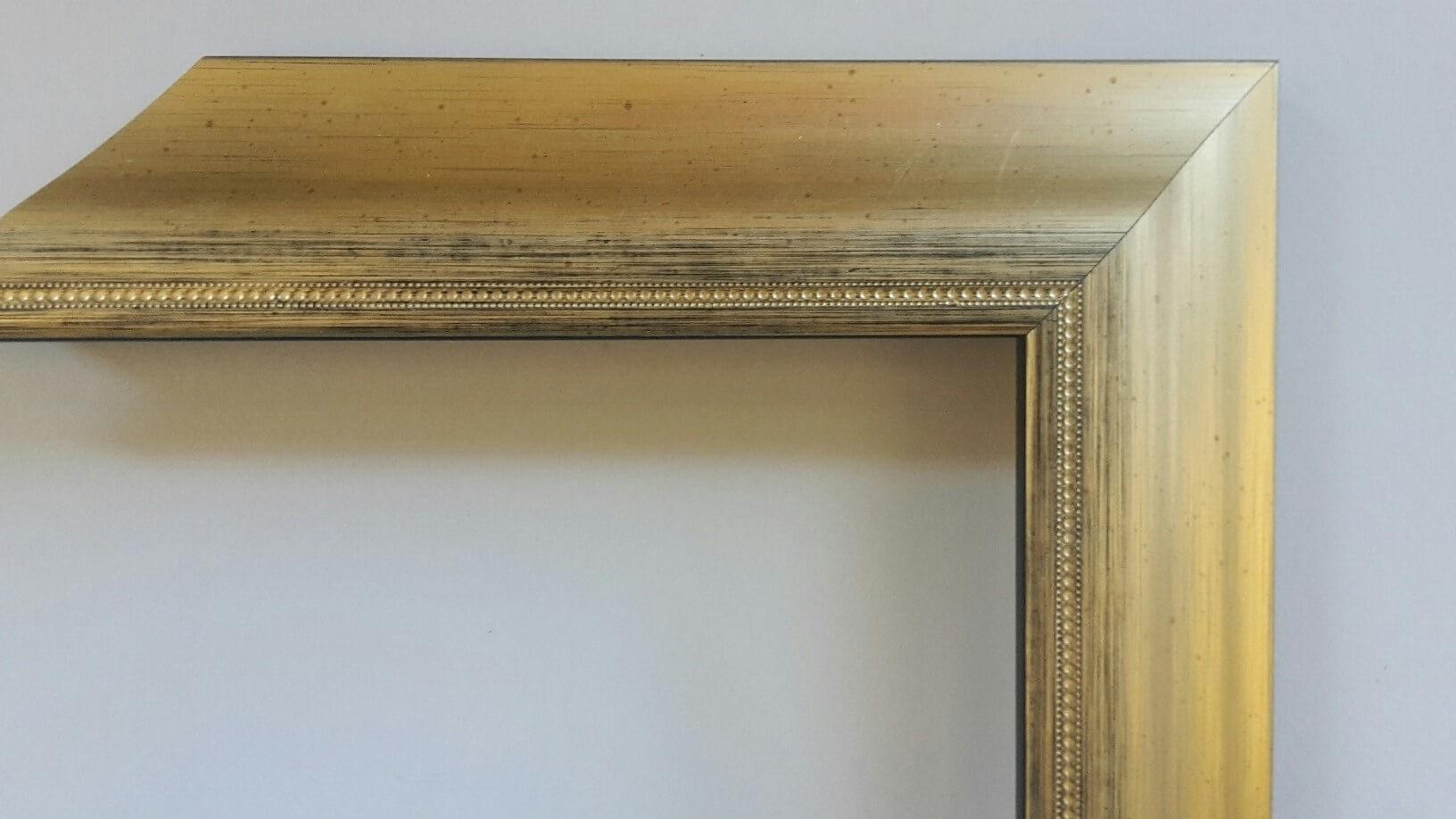Fabira Bayonne Gold auf Schwarz, Zierkante, Rücken Schwarz ca. 40mm × 20mm