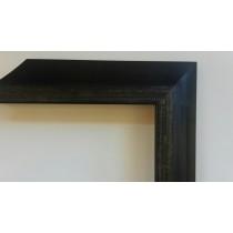 Fabira Bayonne Schwarz auf Silber, Zierkante, Rücken Schwarz ca. 40mm × 20mm
