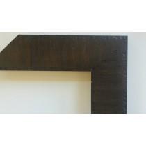 Fabira Varda Wurzelfurnier Dunkelbraun, Rücken Schwarz, ca. 50mm × 20mm