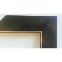 Fabira Salamanca Schwarz Matt durchgerieben, Kante Gold ca. 50mm × 20mm