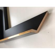Fabira Dark Floater Schwarz Matt, Kante Gold ca. 5mm Hi ca. 25mm