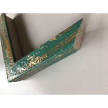 Fabira Mazzola II Hellblau, Gold (Handarbeit) ca. 30mm 582C04