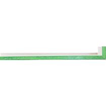 Fabira Evoque Grün Kante und Rü Weiß ca. 15mm 145008