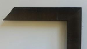 Fabira Tuco Wurzelfurnier Nussbaum Dunkel, Rücken Schwarz ca. 30mm × 23mm