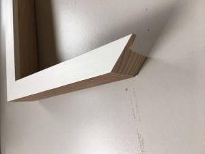 Fabira Loung Duo II Weiß Matt, Rücken braun ca. 20mm