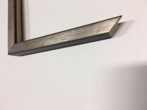 Fabira Lounge Ossidi Silber durchgerieben, Rücken&Lichtkante Schwarz ca.15mm 193003