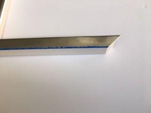 Fabira Lounge Argento Colore Silber, blau durchg., Rü.&Lichtkante Weiß ca.15mm 195006
