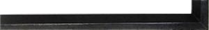 Fabira Evoque Schwarz Kante und Rü Schwarz ca. 15mm 145002