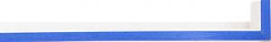 Fabira Evoque Blau Kante und Rü Weiß ca. 15mm 145009
