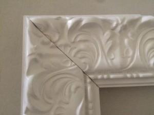 IbiS Barocco Weiß Matt 869010 ca. 95mm Holz-Rahmen